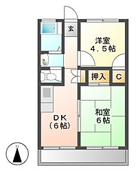 第一千代田コーポ[2階]の間取り