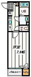 埼玉県川口市戸塚鋏町の賃貸アパートの間取り