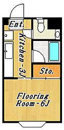 カーサデフローラ2[1階]の間取り