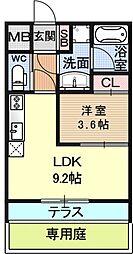 スカイコート山科安朱[304号室号室]の間取り