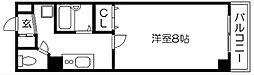 京都寿[602号室]の間取り