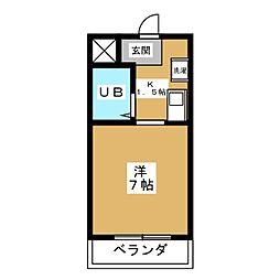 プライム室町[4階]の間取り
