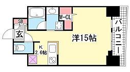 ワコーレ神戸三宮マスターズレジデンス[3階]の間取り