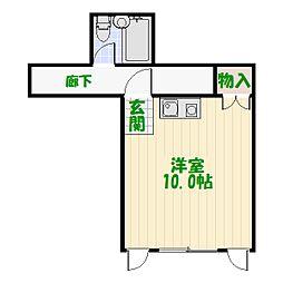 東京都足立区中川3丁目の賃貸マンションの間取り