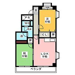 セジュール泉[5階]の間取り