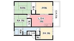 仁川マンション[503号室]の間取り