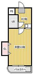 サンウィング新松戸2[3階]の間取り