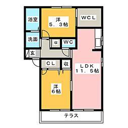 シンコー北島 A棟[1階]の間取り