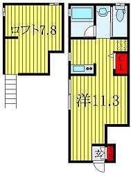 BIG LOFT STYLE 1階ワンルームの間取り