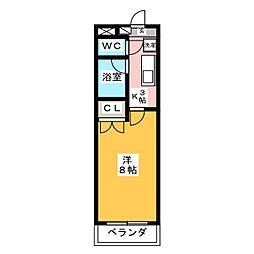 プレステージ35[3階]の間取り