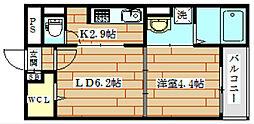 ライル2[1階]の間取り