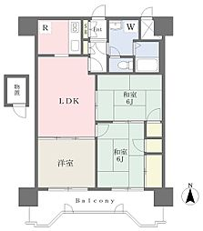 JR東北本線 仙台駅 徒歩5分の賃貸マンション 12階3LDKの間取り