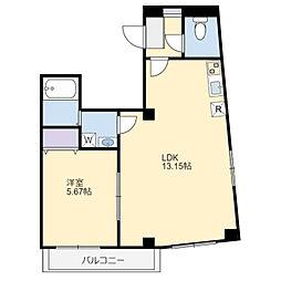 プレシア千葉中央 5階1LDKの間取り