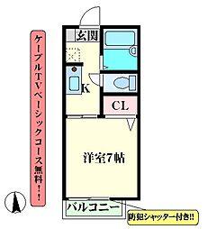 阪急千里線 吹田駅 徒歩7分の賃貸マンション 1階1Kの間取り