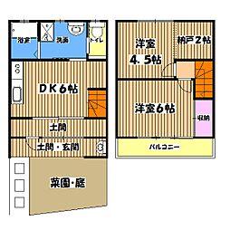 柿の家荘[1階]の間取り