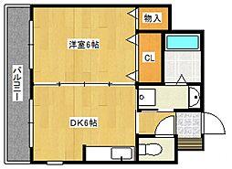 ヴィレッジ21[4階]の間取り