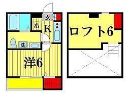 ウィステリア上本郷[2階]の間取り