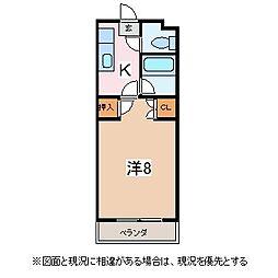 長野県松本市大字新村の賃貸マンションの間取り