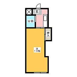キャンパスひまわり住吉[2階]の間取り