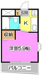 ジョイフル石神井公園[2階]の間取り