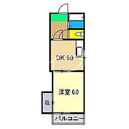 ハイツサンバード[2階]の間取り