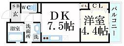 JR東海道・山陽本線 甲南山手駅 徒歩2分の賃貸アパート 3階1LDKの間取り