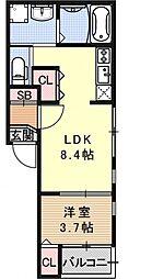 (仮称)伏見区菱屋町・SKHコーポ[101号室号室]の間取り