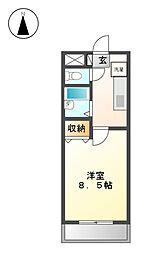 ハイライフ田幡[5階]の間取り