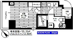 ステージファースト蔵前アジールコート[5階]の間取り