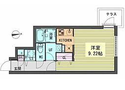 名古屋市営鶴舞線 浄心駅 徒歩2分の賃貸マンション 4階1Kの間取り