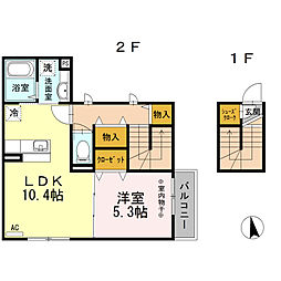 桜の杜[1階]の間取り