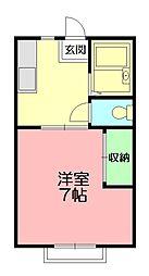 メゾンド・K[1階]の間取り