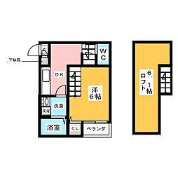 CASA DE LISA[2階]の間取り