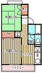 ハナミズキA棟[1階]の間取り
