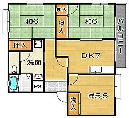 大阪府高槻市松が丘1丁目の賃貸アパートの間取り