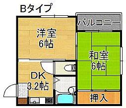 キューブ御崎[4階]の間取り