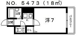 オーナーズマンション東住吉[601号室号室]の間取り