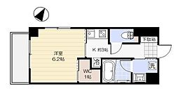 ダン・ラベニール北新宿 4階1Kの間取り