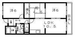ガーデンフラットカメリア[407号室号室]の間取り
