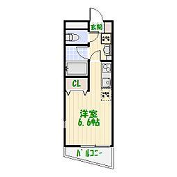 東京都葛飾区四つ木3丁目の賃貸アパートの間取り