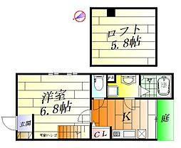 W APARTMENT[1階]の間取り