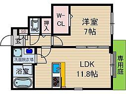 cherir上泉[1階]の間取り