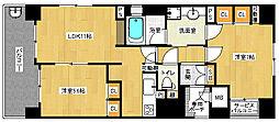 「エステムプラザ京都四条烏丸II雅style」[2階]の間取り