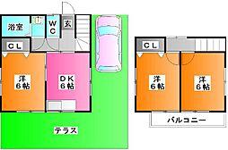 [一戸建] 埼玉県さいたま市桜区桜田2 の賃貸【/】の間取り