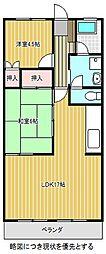愛知県名古屋市千種区池上町2丁目の賃貸マンションの間取り