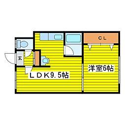 北海道札幌市東区北十四条東8丁目の賃貸アパートの間取り