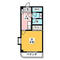 プレミールマンション[1階]の間取り