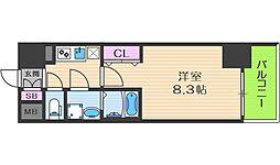 Osaka Metro中央線 阿波座駅 徒歩5分の賃貸マンション 9階1Kの間取り