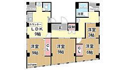 プリンスマンション[701号室]の間取り