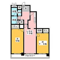 アンビックス志賀ストリートタワー[6階]の間取り